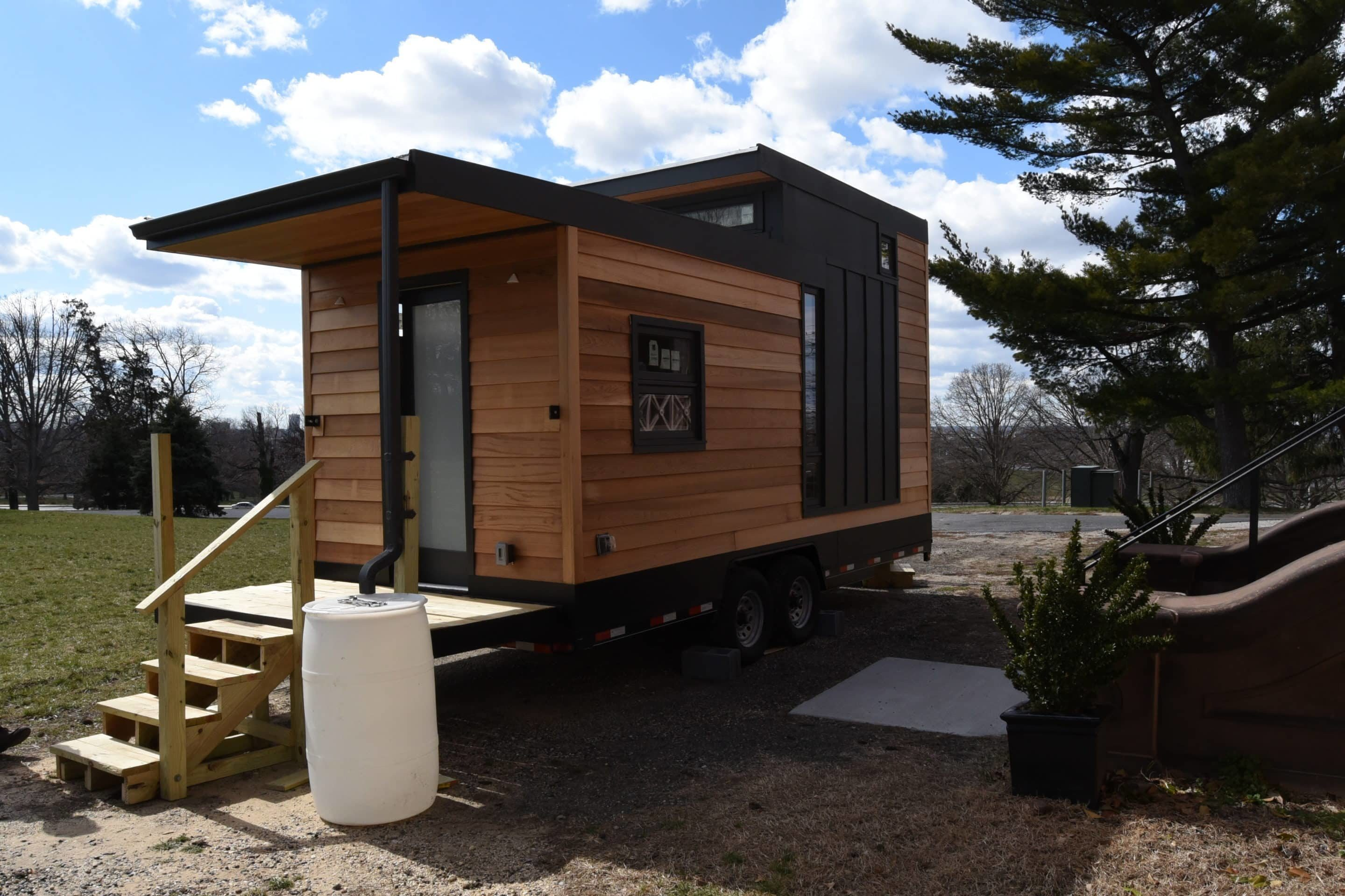 Tiny House Prix M2 tiny house on wheel made in france in galvanized steel