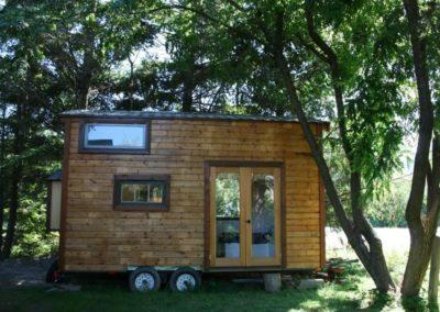petite maison sur remorque