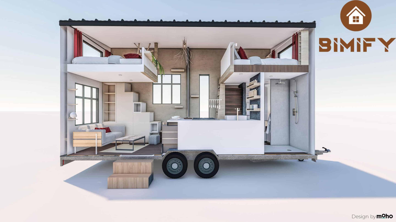 Micro maison sur remorque
