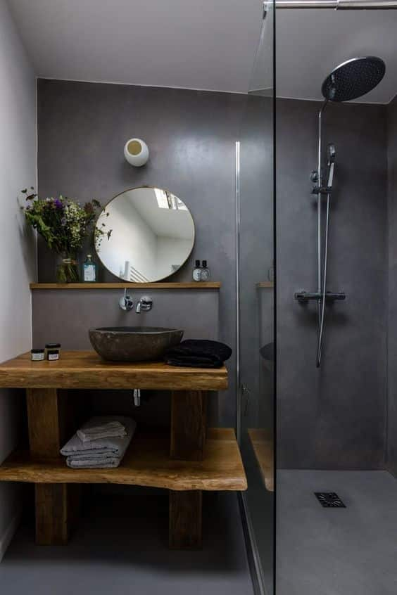 Arrange a small bathroom in your mobile home