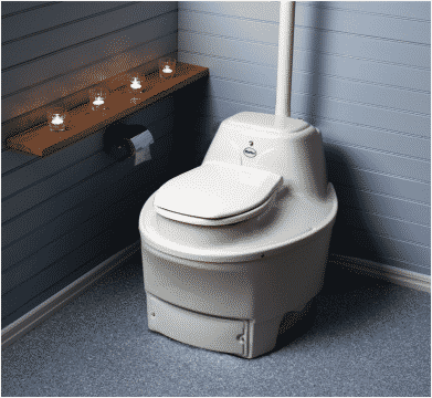 dry toilet with evaporation and dehydration