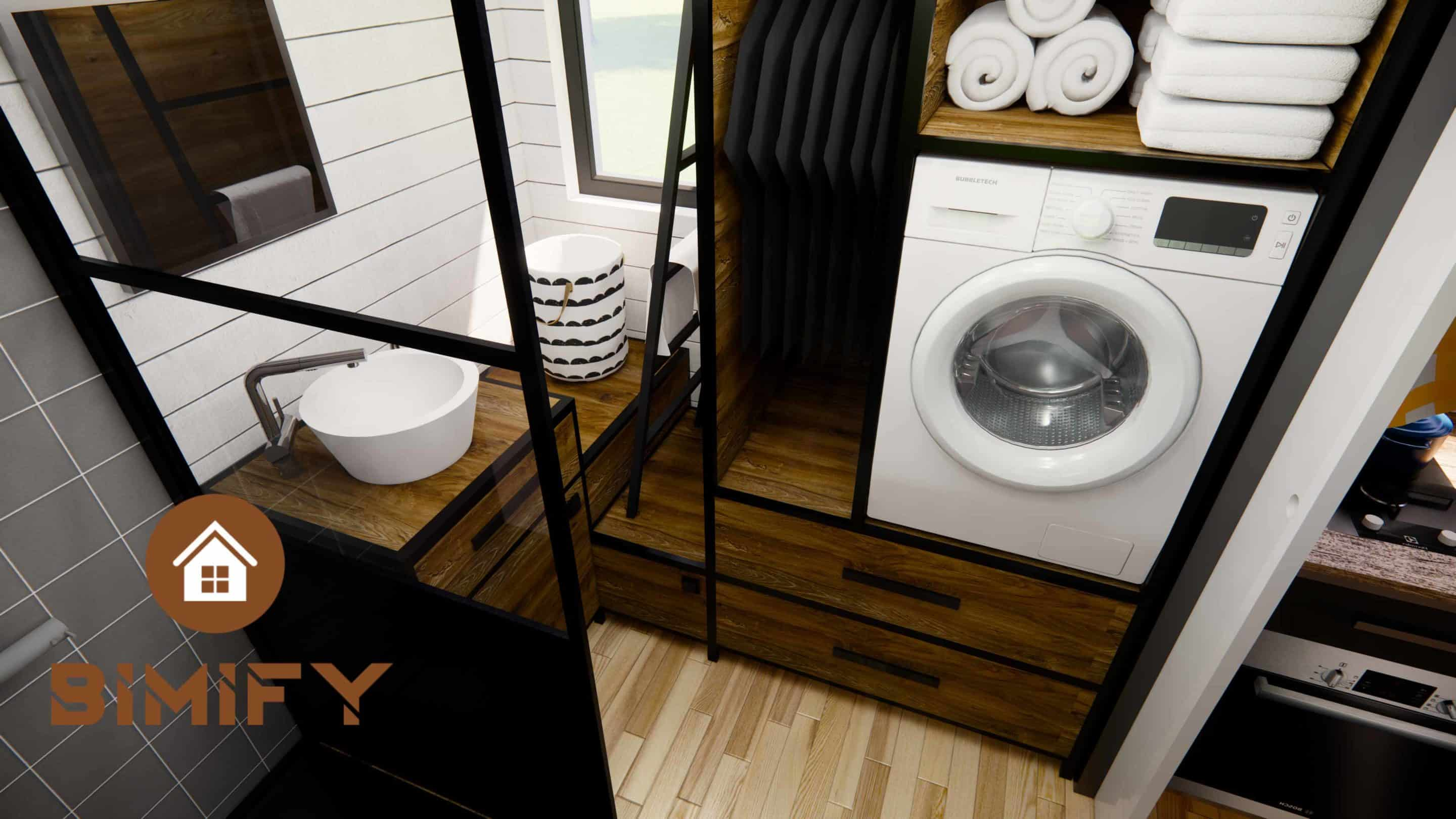 Tiny Chalet house bathroom made to measure - TinyHouse