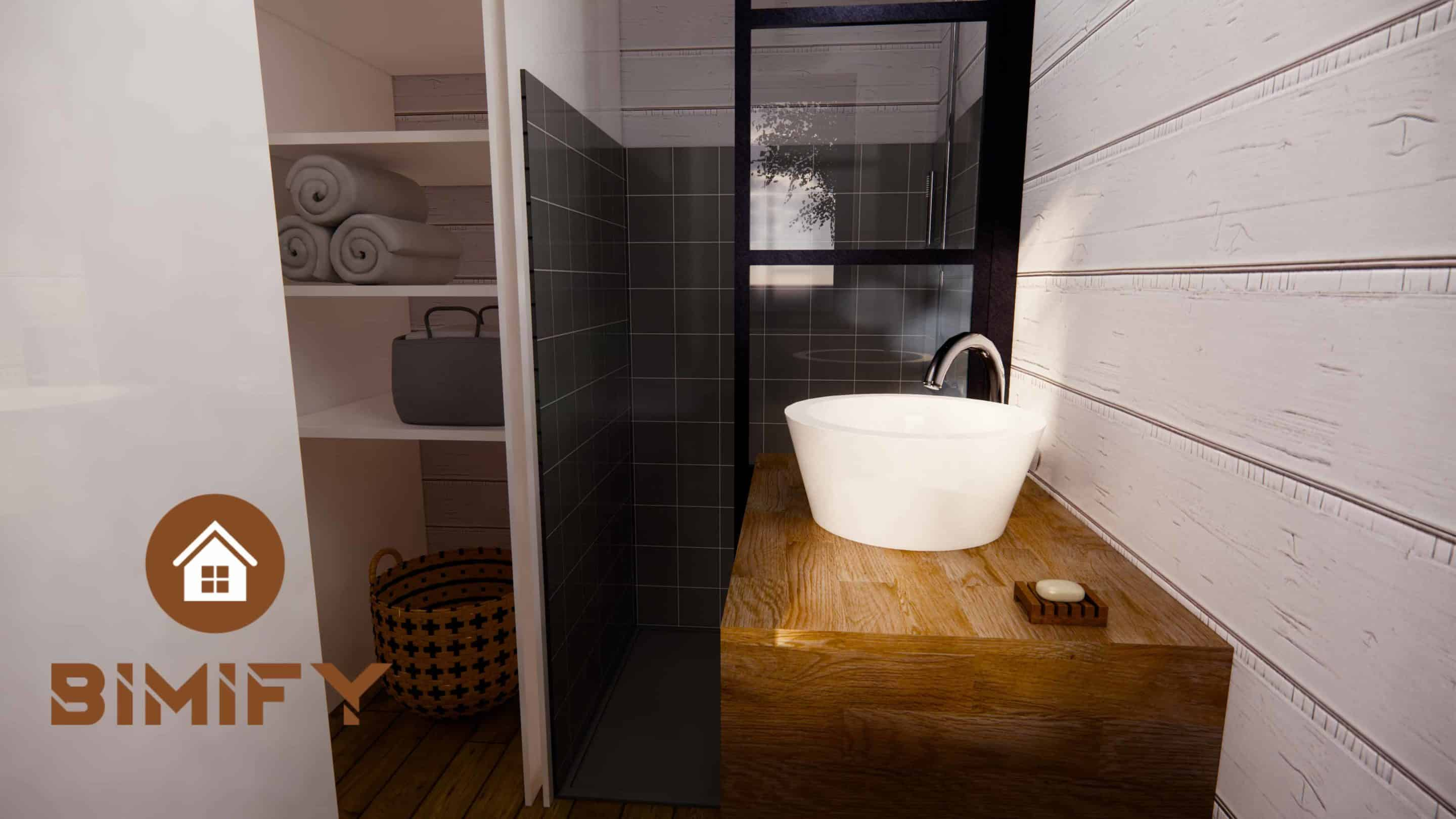 Tiny Duo 540 Baño Disposición de la casa Tiny