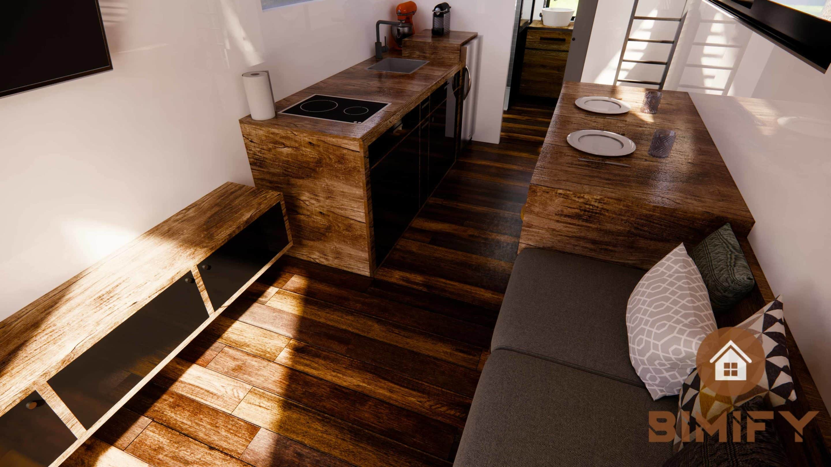 Tiny house layout and decoration