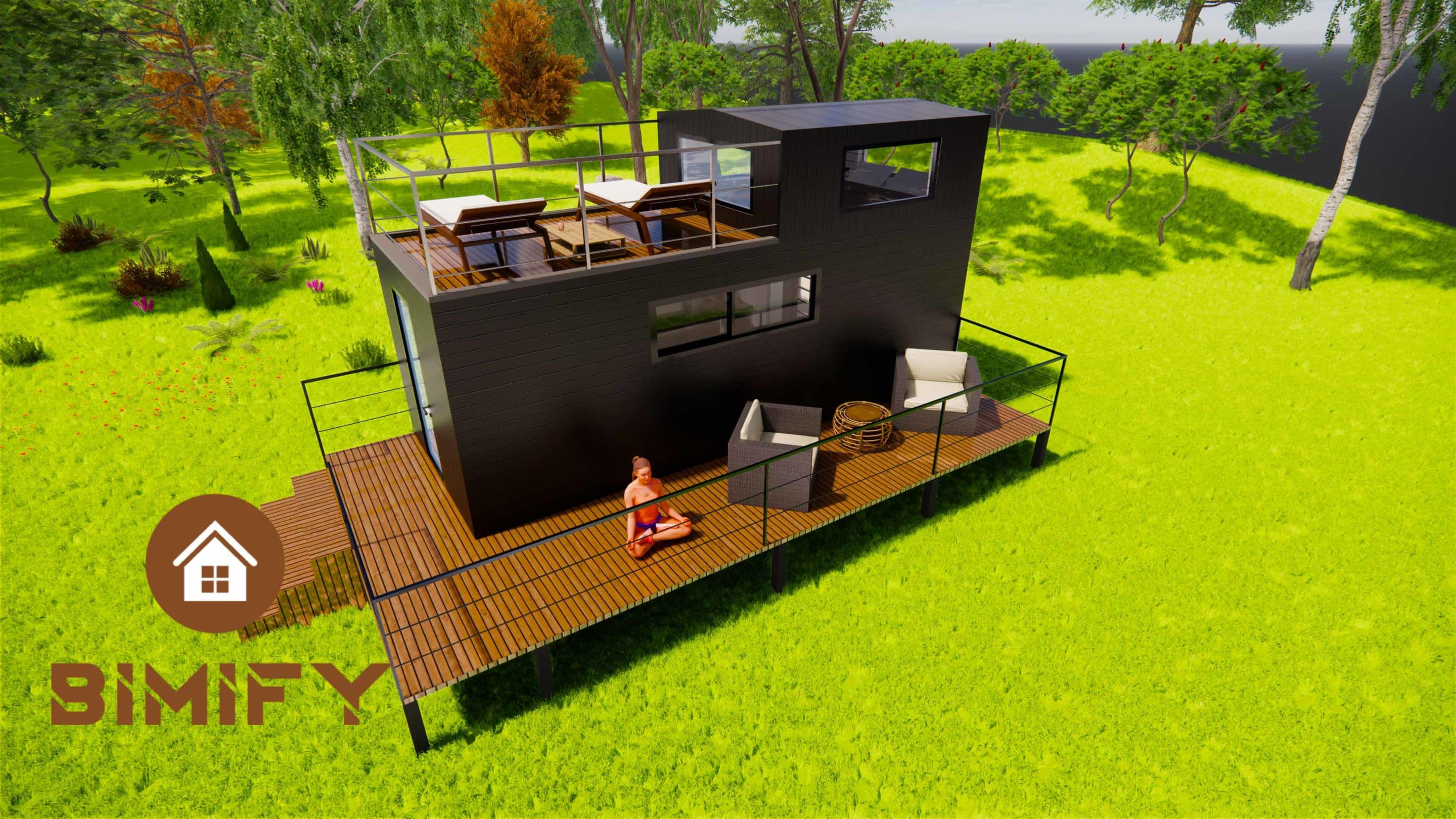 TinyDuo 660 con terraza accesible - TIny House France (18)