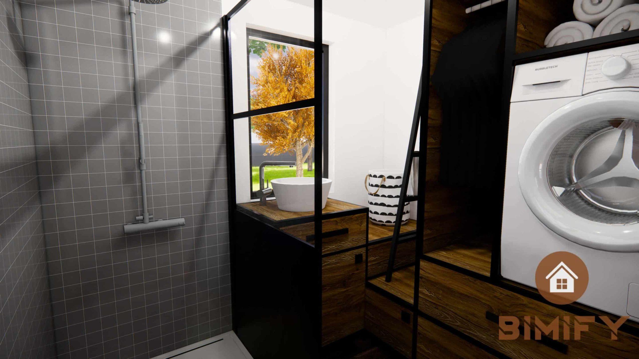 Raccordi per il bagno di una minuscola casa