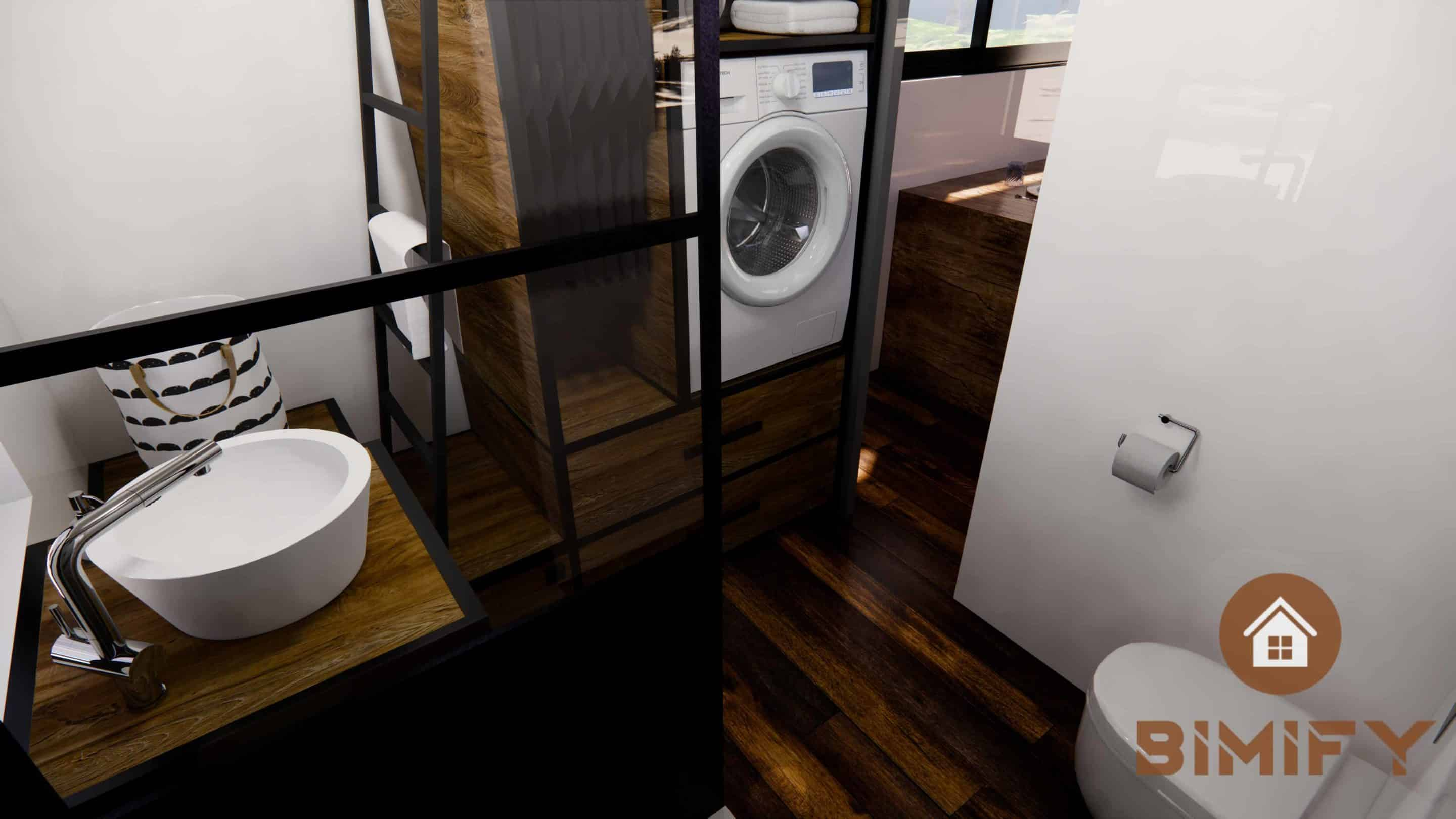 Disposizione e decorazione bagno casa minuscola