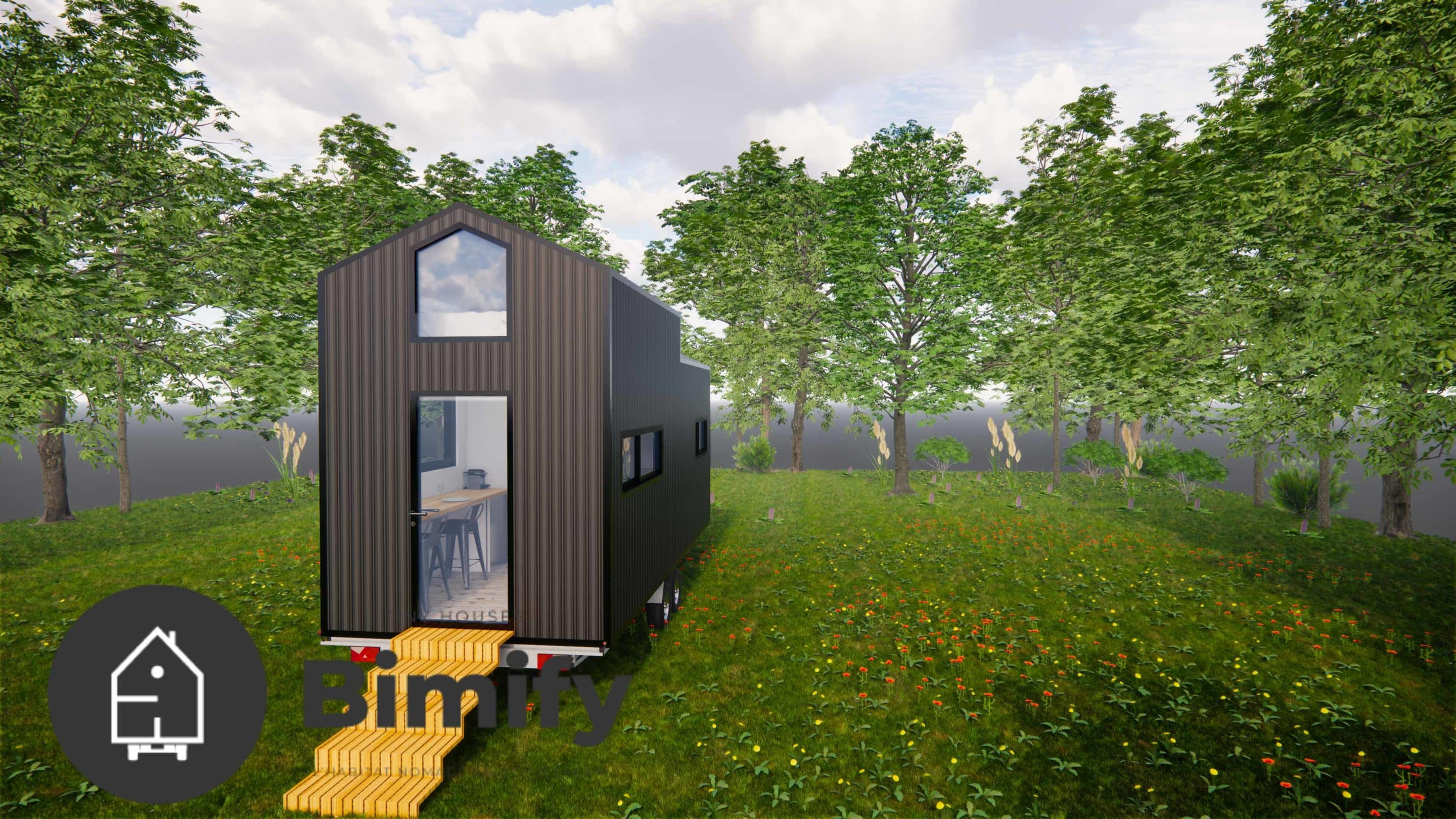 Moderna y luminosa Tiny house