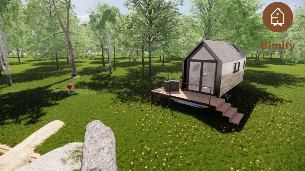 Tiny house sédentaire et roulante