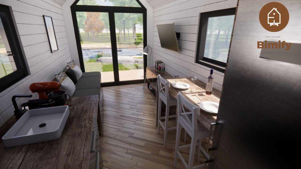 intérieur tiny house sur-mesure
