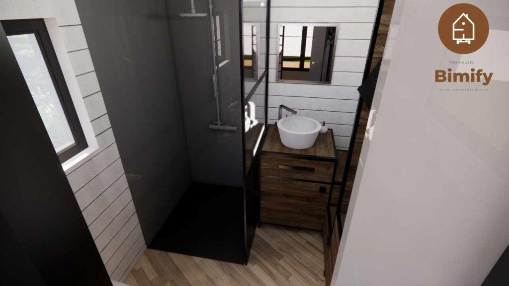 salle de bain spacieuse pour tiny house
