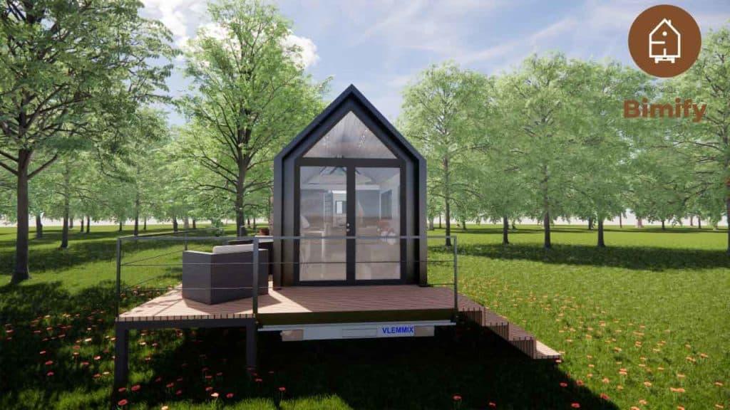 tiny house moderne et lumineuse