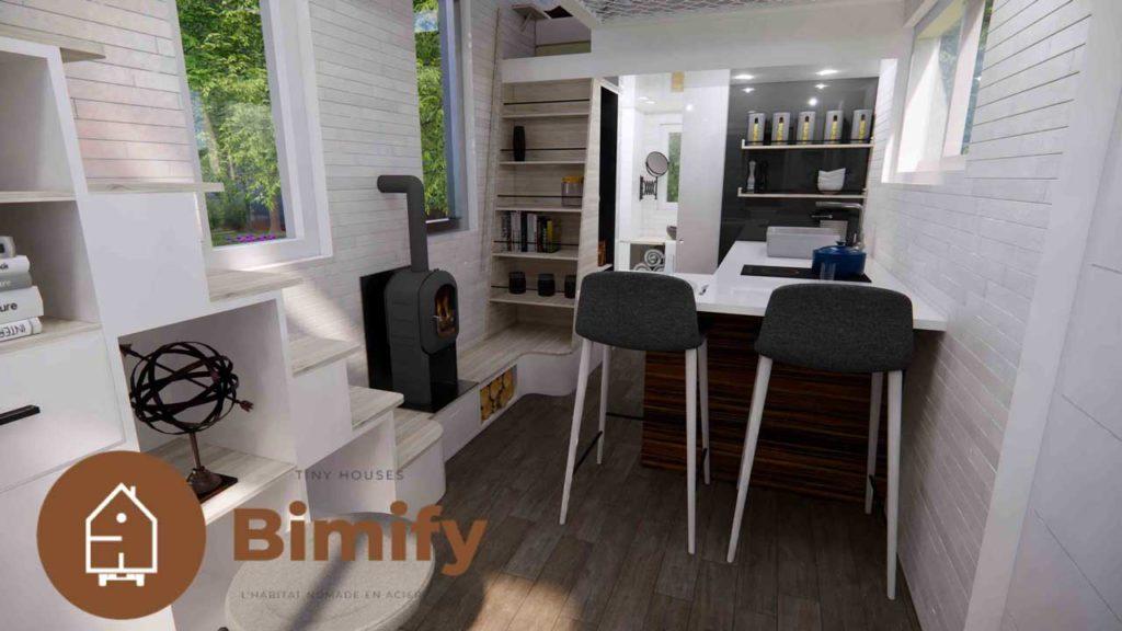 Tiny house plan et agencement de cuisine