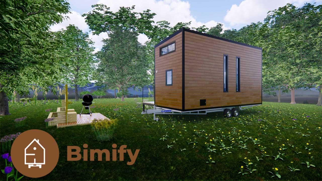 Tiny House design moderne et familiale