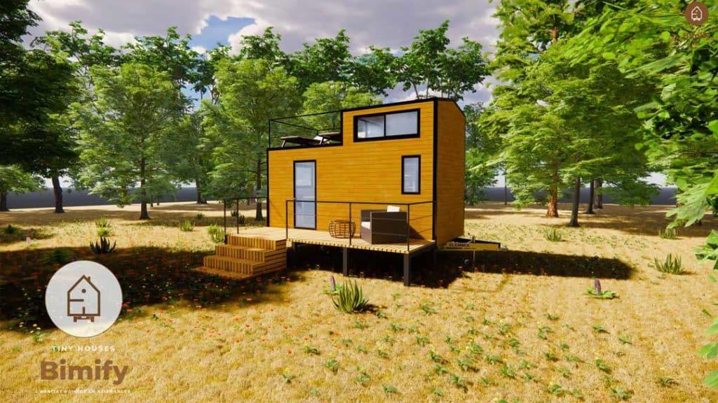 mini maison mobile spacieuse