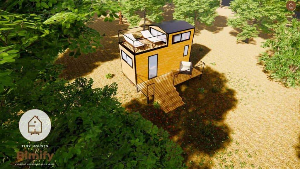 Tiny Duo 540 modele avec toit terrasse
