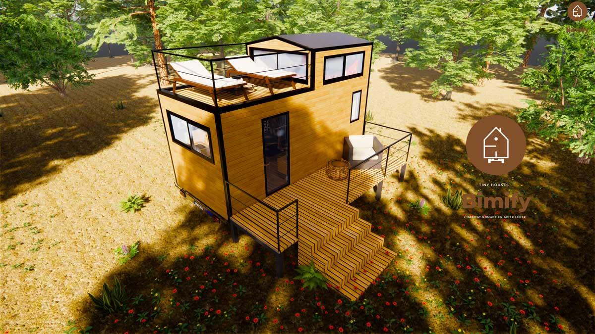 tiny house dach terrasse
