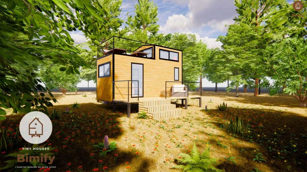 tinyhouse minimaliste et moderne