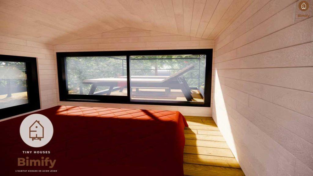 Petite maison mobile lumineuse