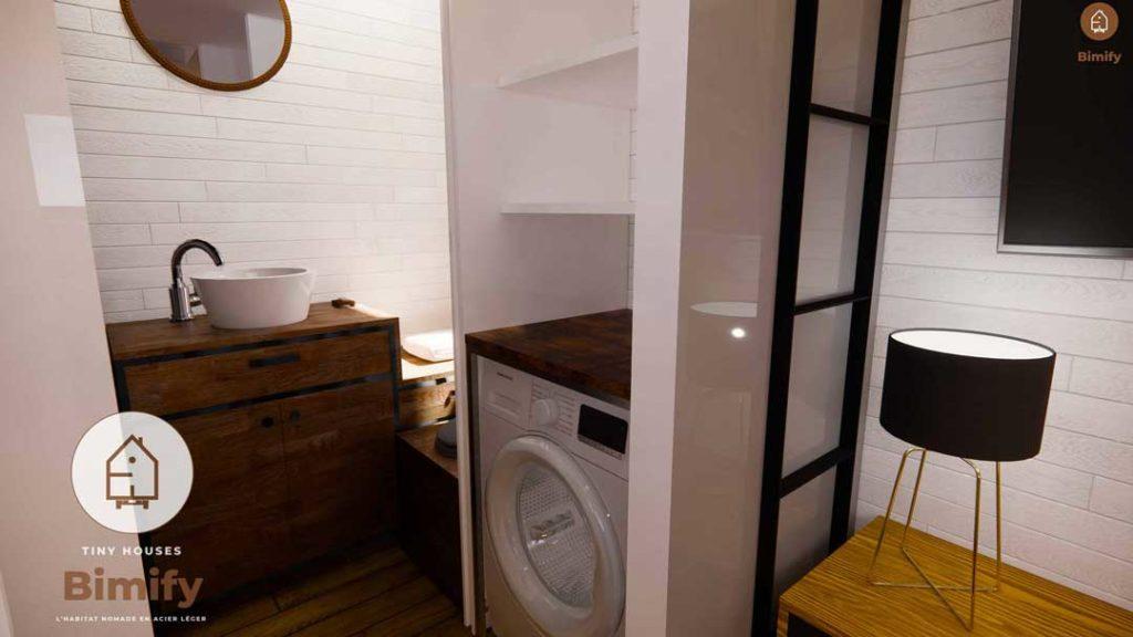 Petite salle de bain minimaliste