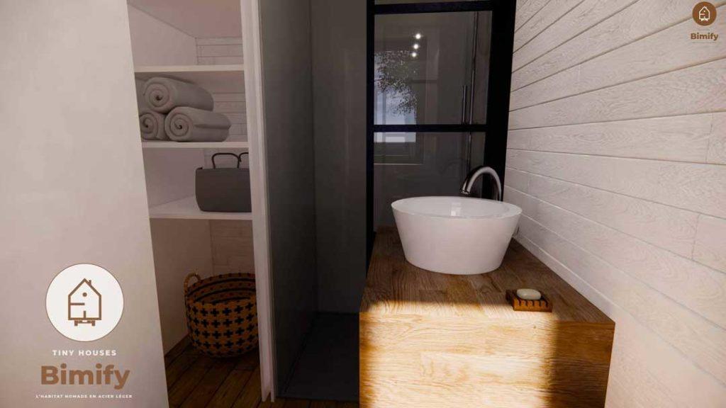 Douche confortable mini maison