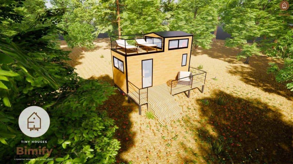 Tiny house moderne et minimaliste