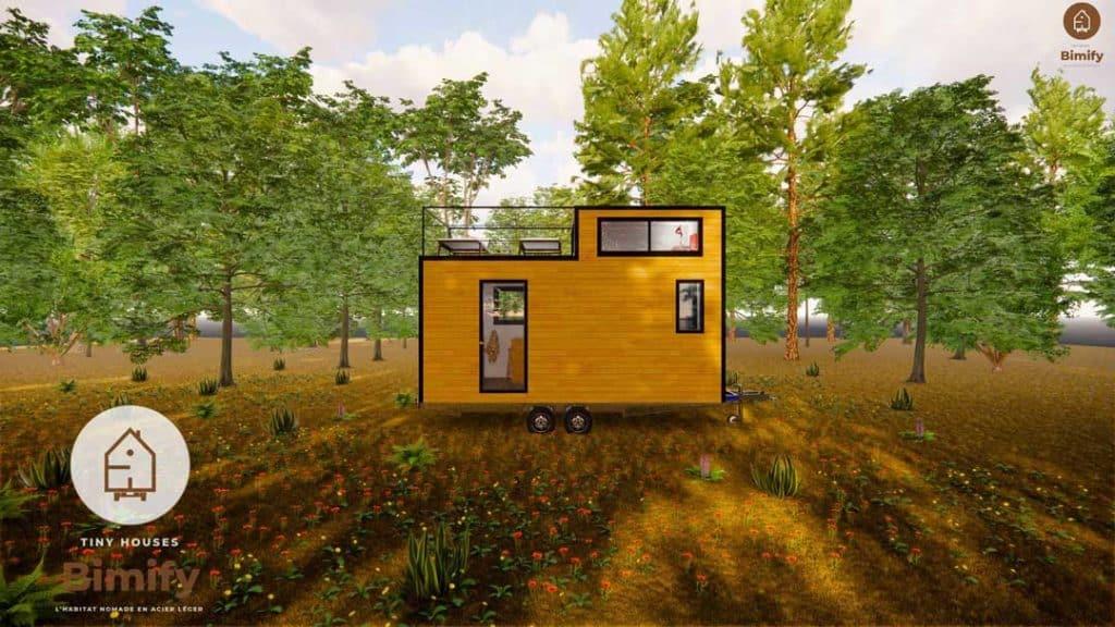 Tiny Duo 540 tiny house mezzanine et toit terrasse accessible 7