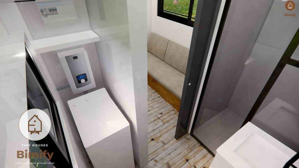 tiny house salle de bain agencement