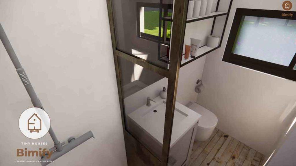 agencement tiny house salle de bain