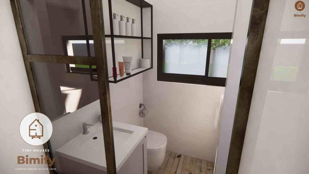 aménagement tiny house salle de bain
