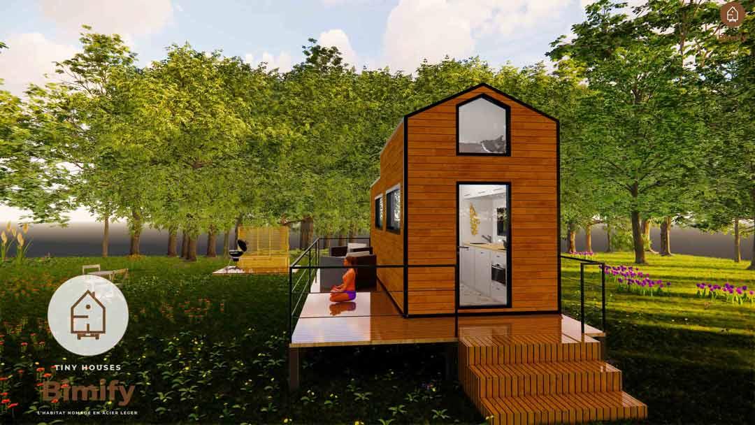 Tiny house 1 chambre moderne et lumineuse