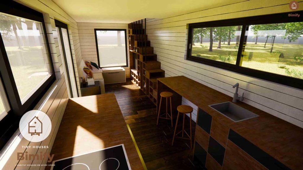 tiny house moderne et familiale