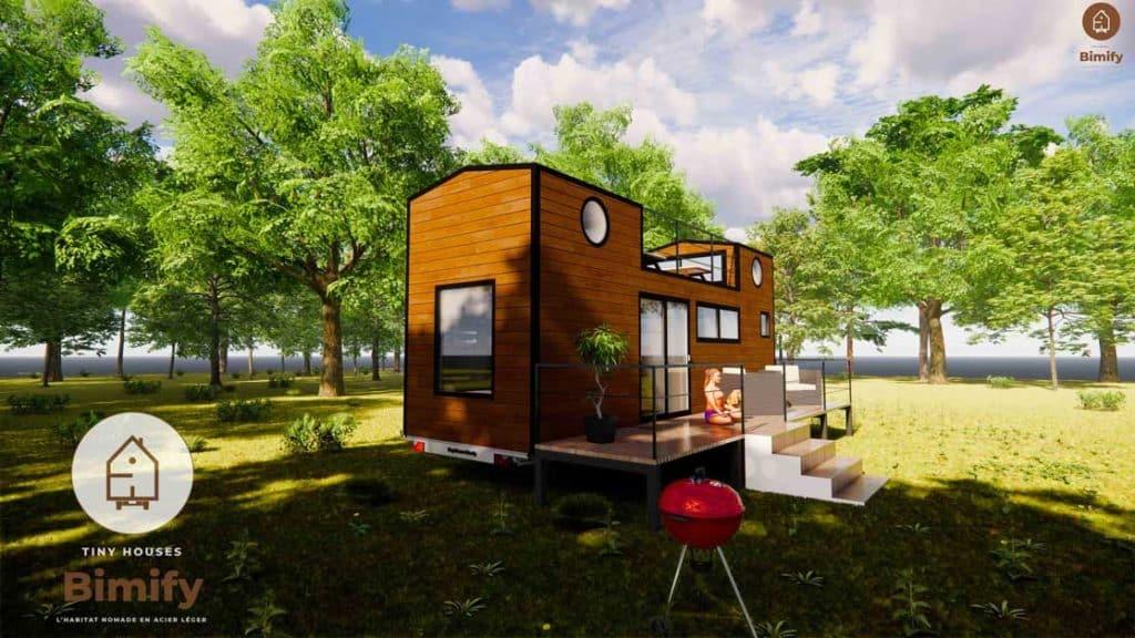 TinyCastel 840 Tiny house 2 mezzanines pour 4 a 6 personnes 4