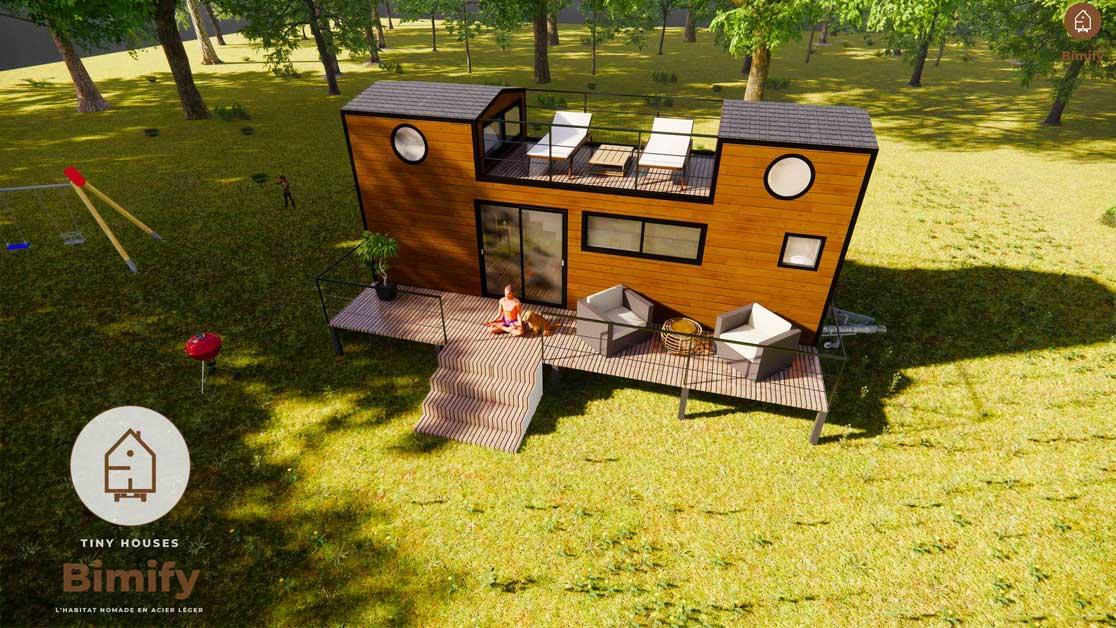 TinyCastel 840 Tiny house 2 mezzanines pour 4 a 6 personnes 8