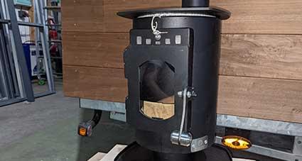 stufa a legna per il riscaldamento della casa minuscola 1,7 kw