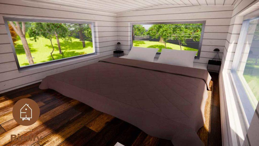 Idée agencement mezzanine tiny house