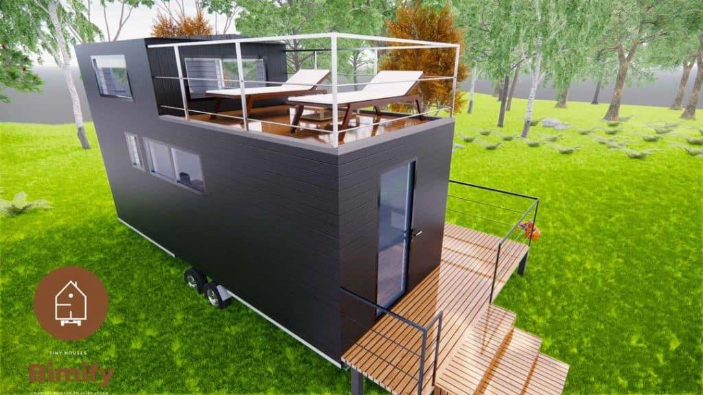 tiny house toit terrasse