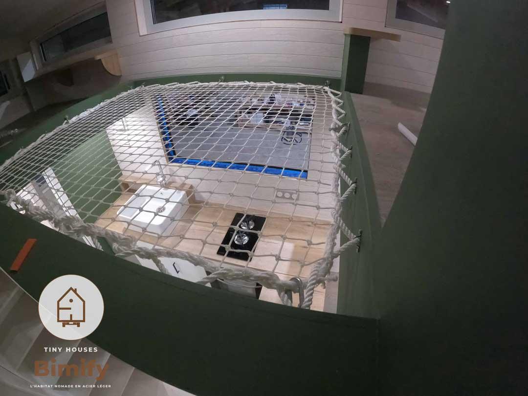 Filet de protection pour mezzanine